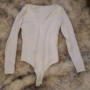 White Everlane  body suit